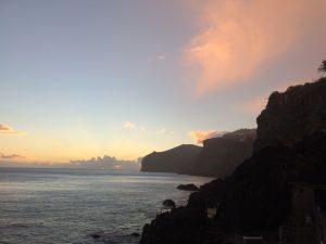 Foto zonsondergang op Madeira
