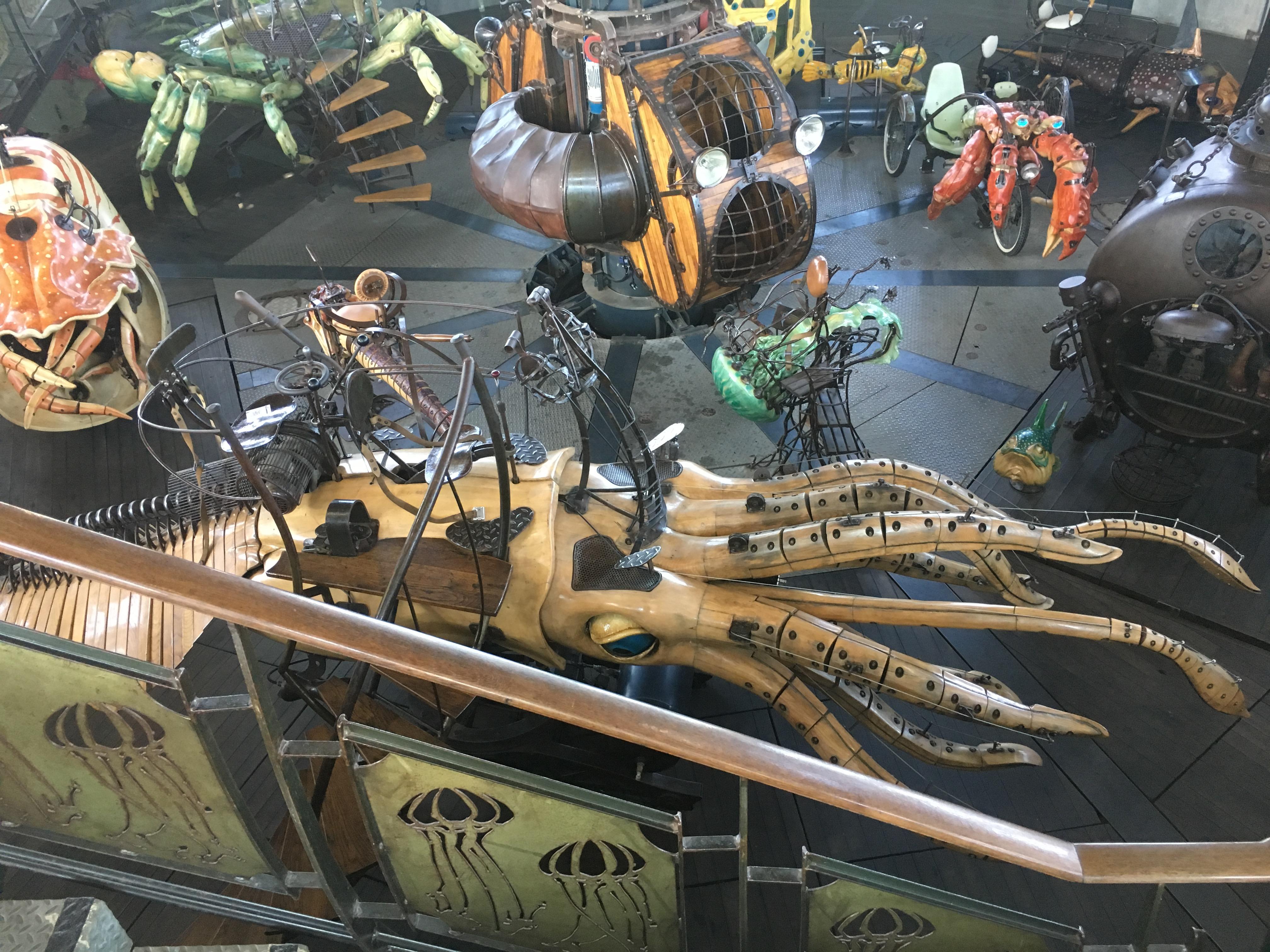 Carrousel des Mondes Marin bij Machines de L'ile