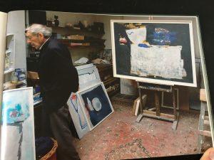 Opa Piet in zijn atelier