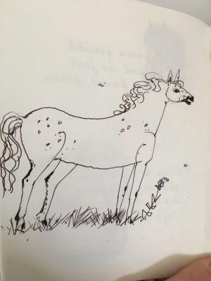 Tekening paard door Piet Schoenmakers
