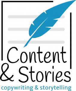 Het logo van Content & Stories
