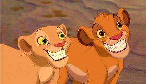 Nala en Simba uit The Lion King