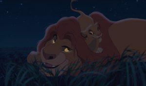 Mufasa en Simba uit The Lion King